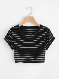 Frolic Stripe Crop Top