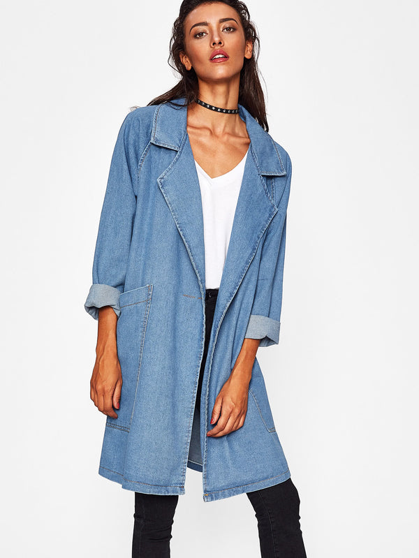 Capital Denim Trench Coat