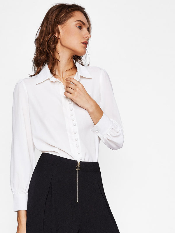 Leanne Button Detail Blouse
