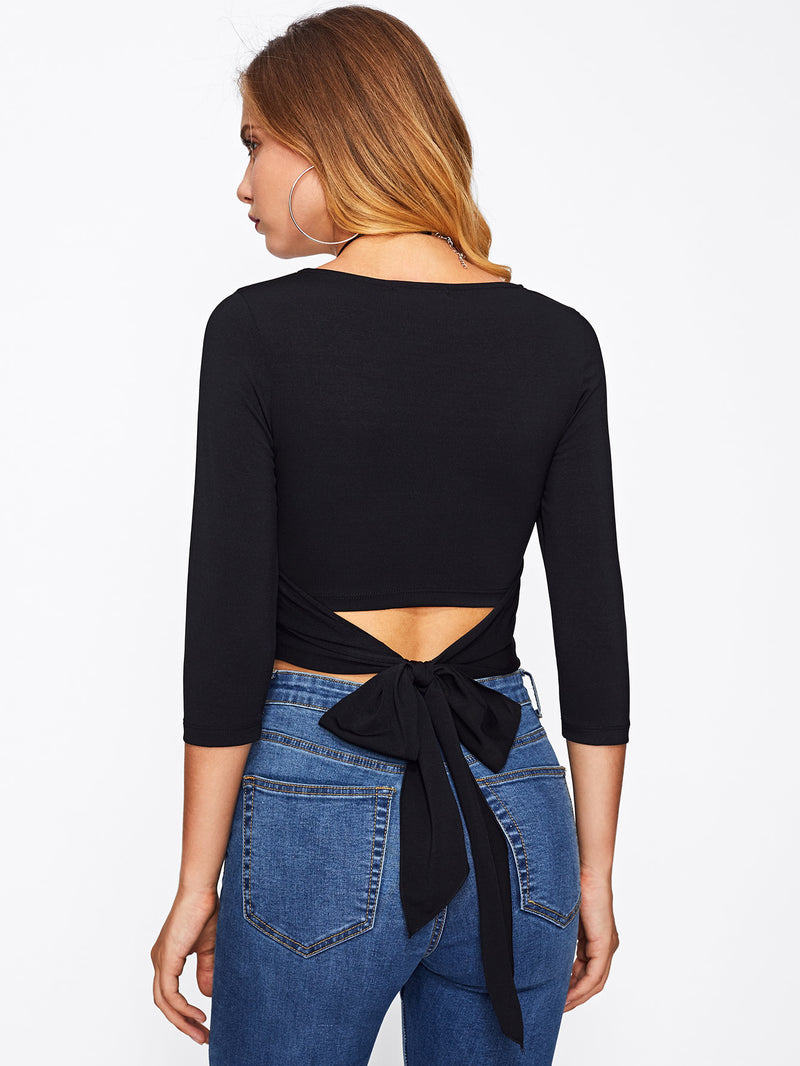 Sierra Tie-Back Crop Top