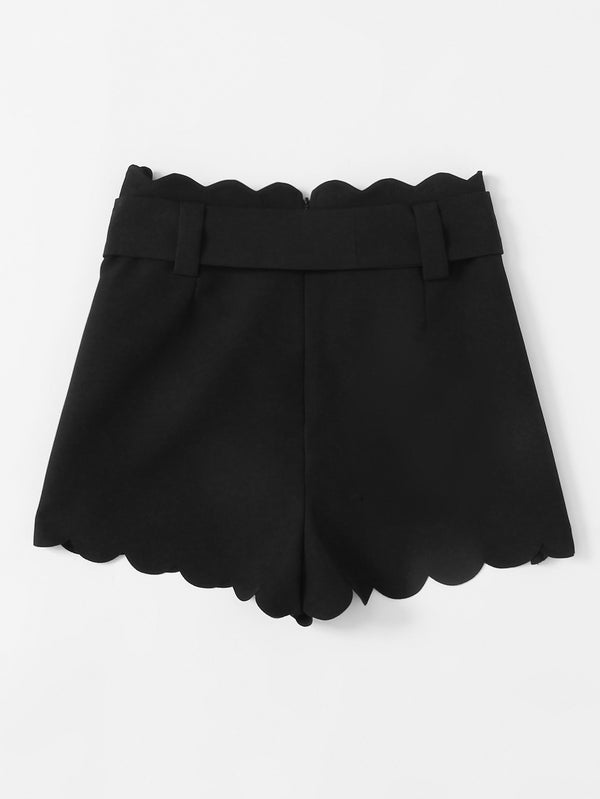 Raven Scallop Shorts