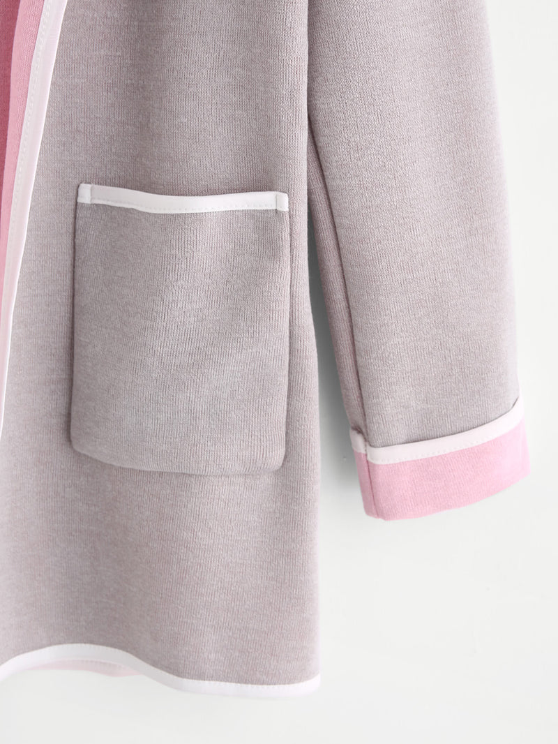 Grey Harmony Dual Knit Coat