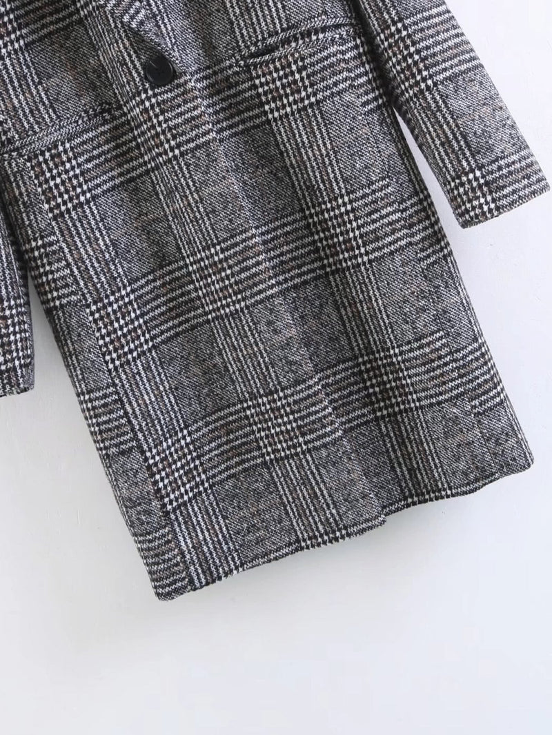 Andrea Plaid Coat