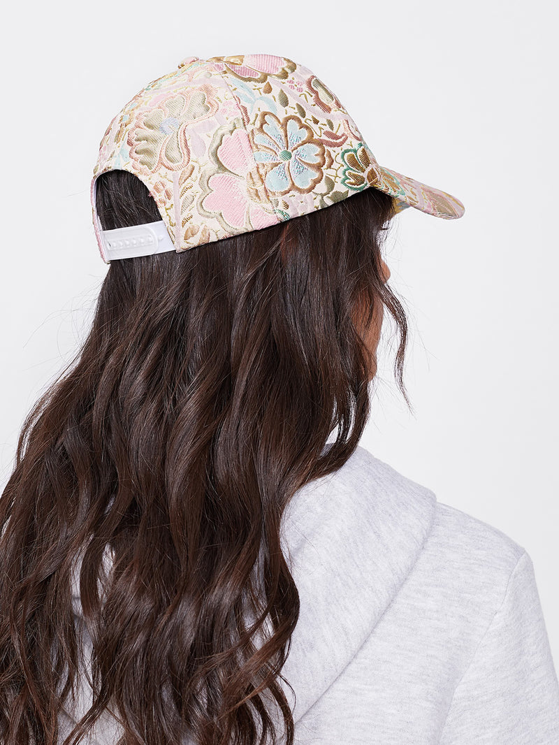 Floral Embroidered Cap