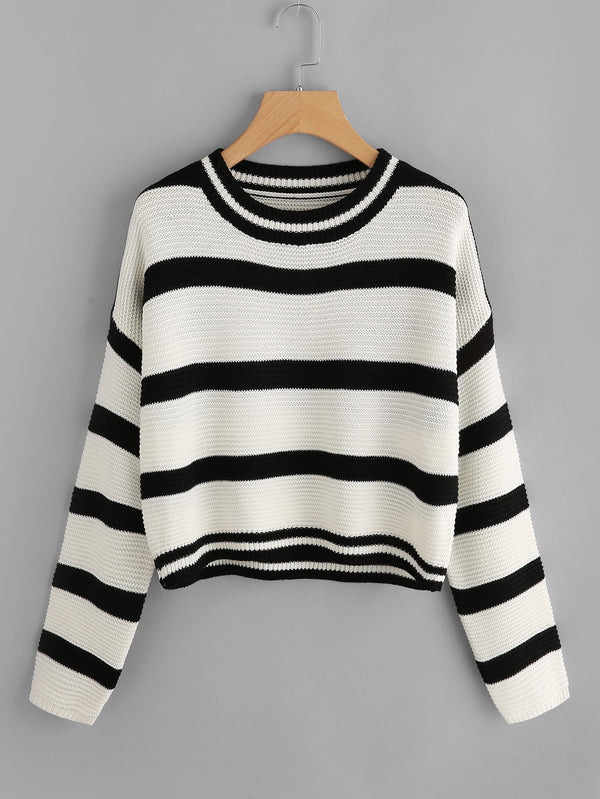Cropped Striped Jumper