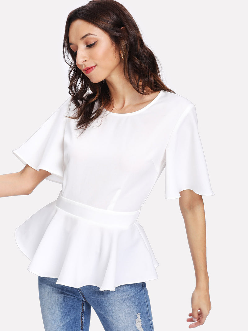 Maya Peplum Top