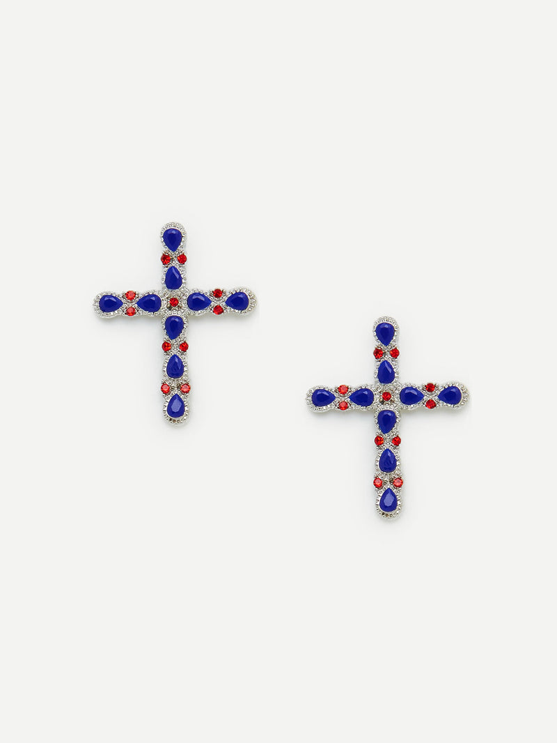 Lyric Cross Earrings