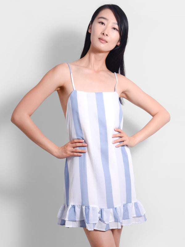 Tyla Blue Stripe Dress