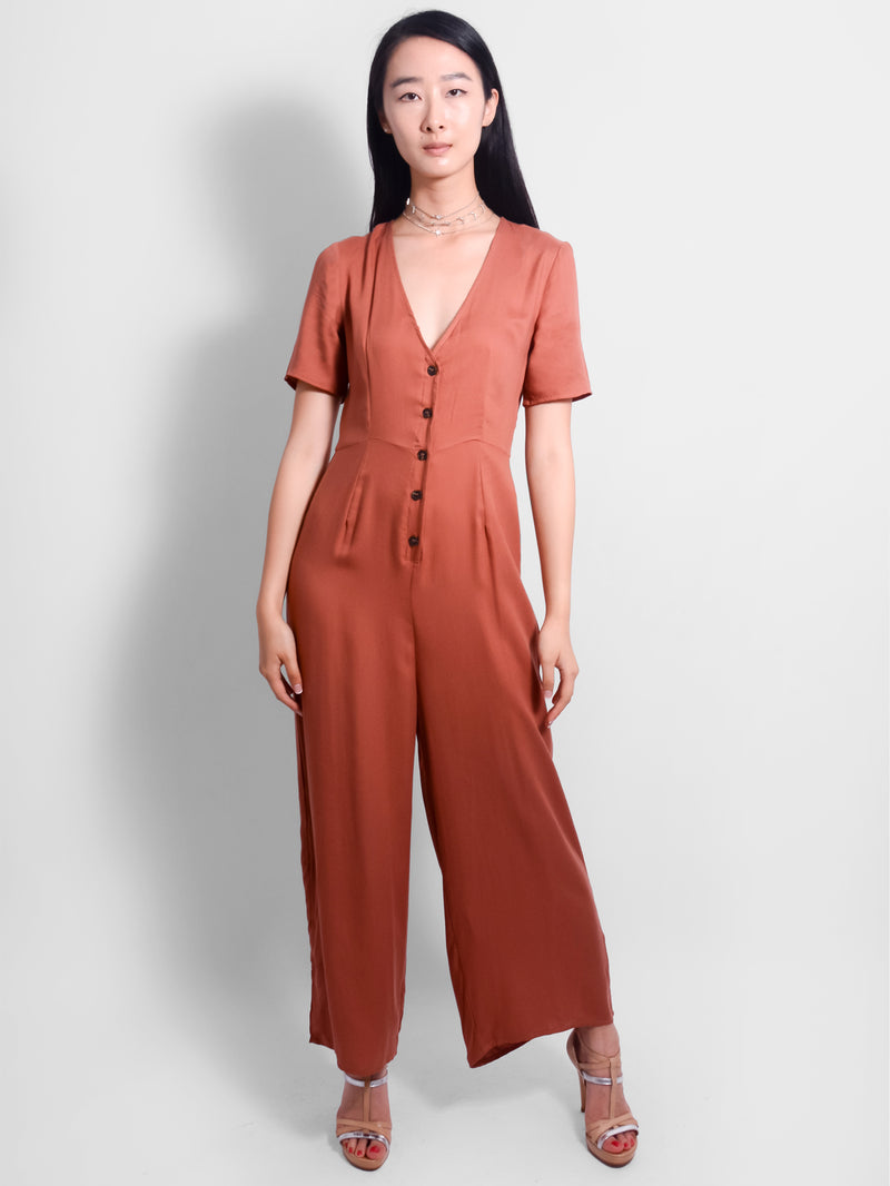 Harriet Red Jumpsuit