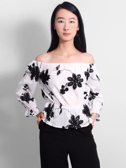 Lainey Floral Off Shoulder Top