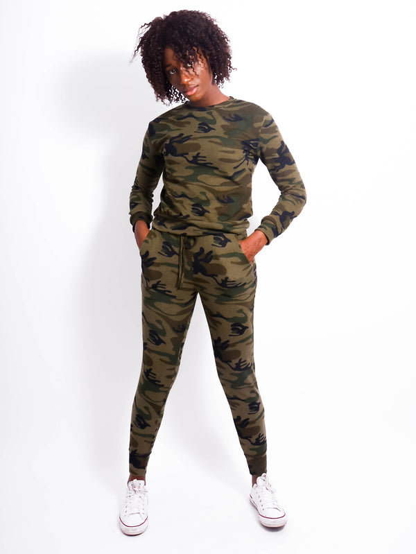 Camo Knitted Lounge Set