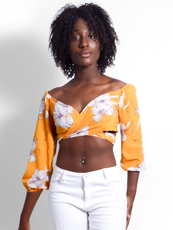 Lu-Lu Wrap Off The Shoulder Top