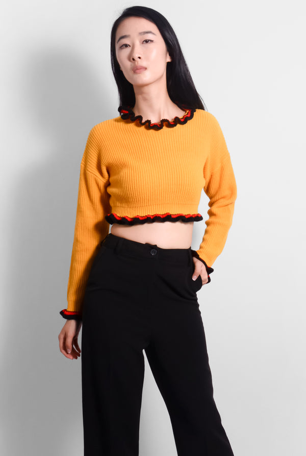 Marigold Crop Sweater