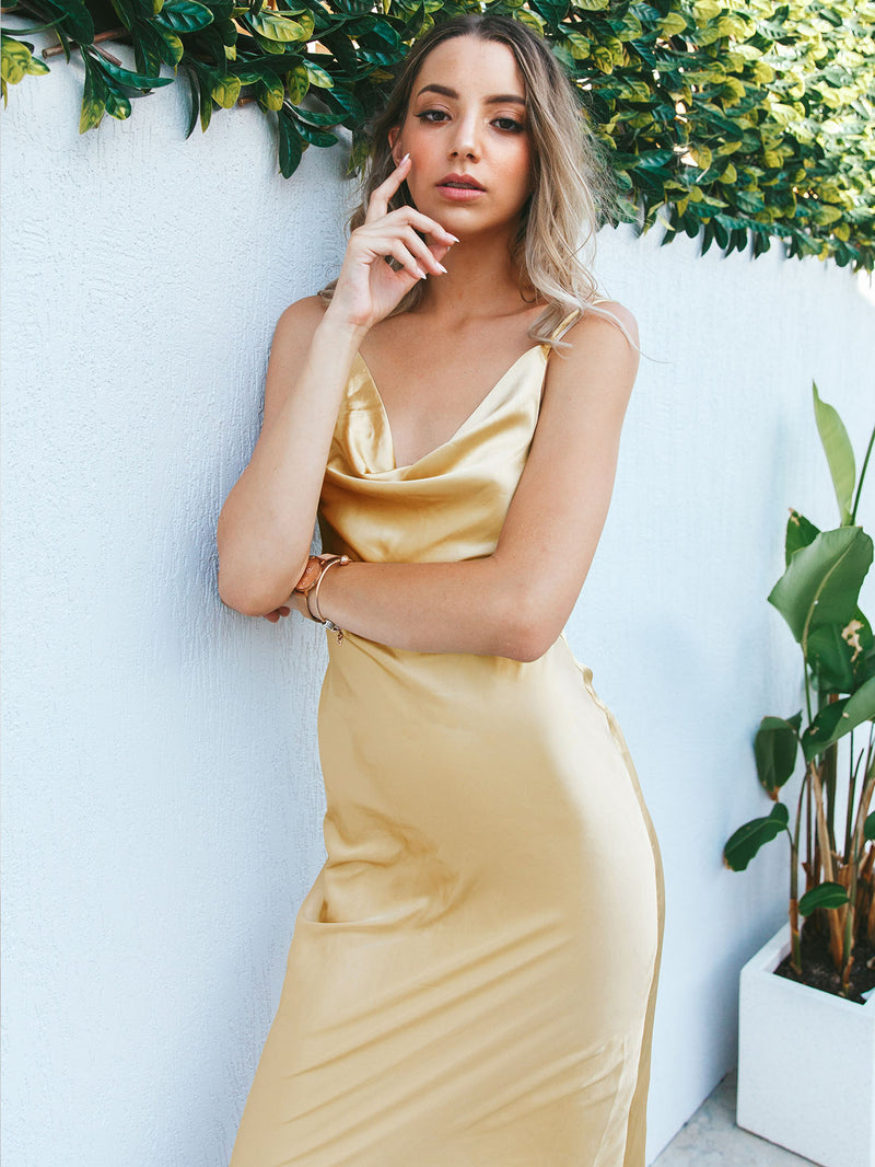 Lioness Cowl Slip Dress