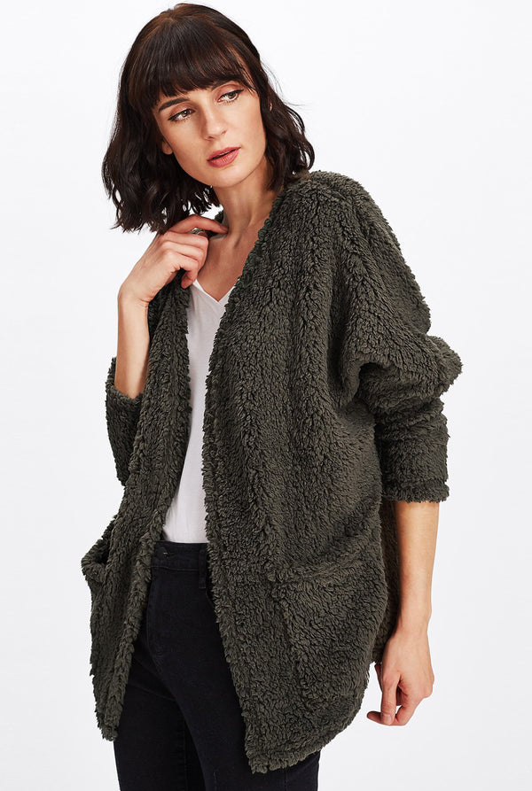 Fern Faux Teddy Coat