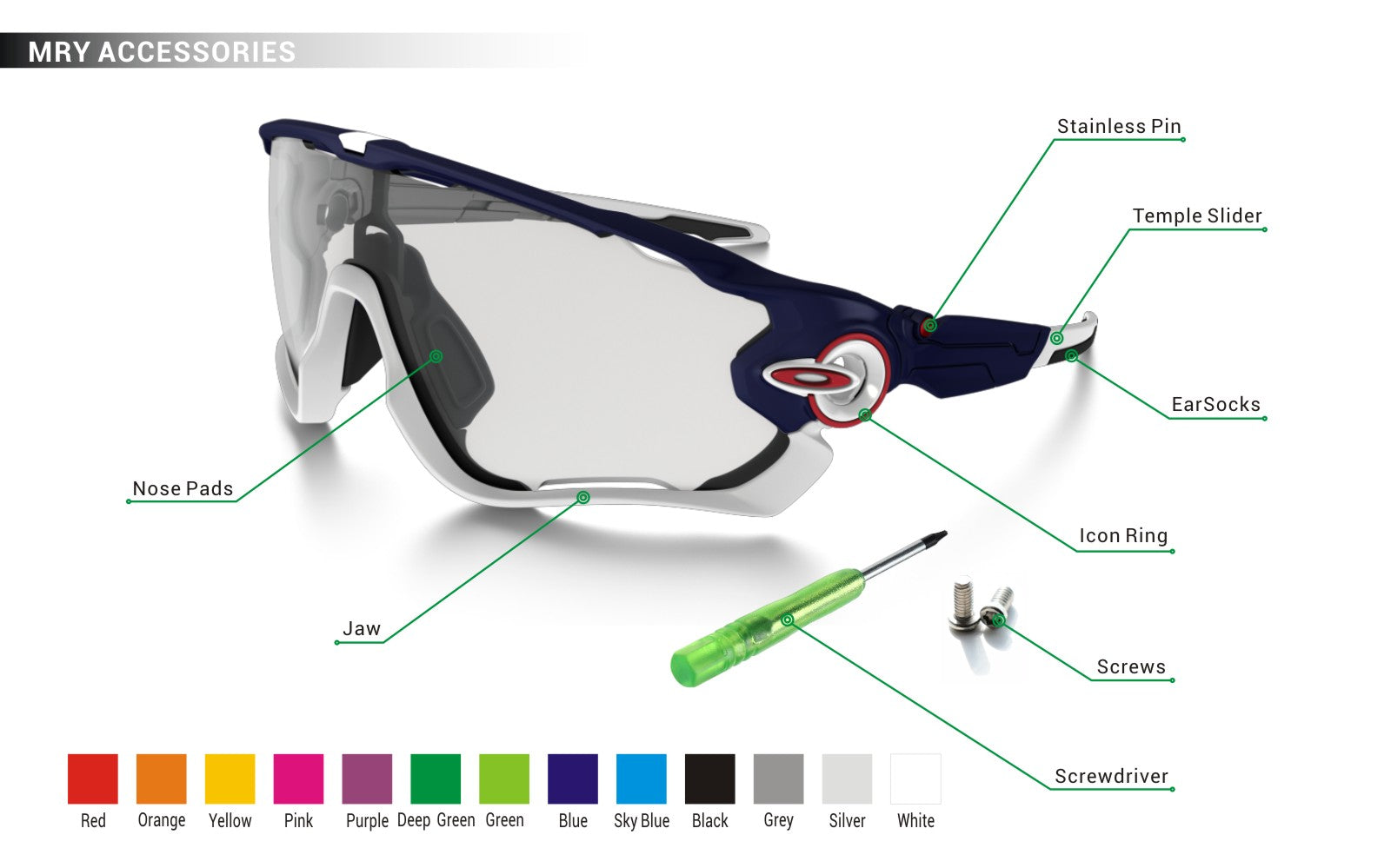 Oakley Wingfold EVR EVS Replacement Lenses Technologies