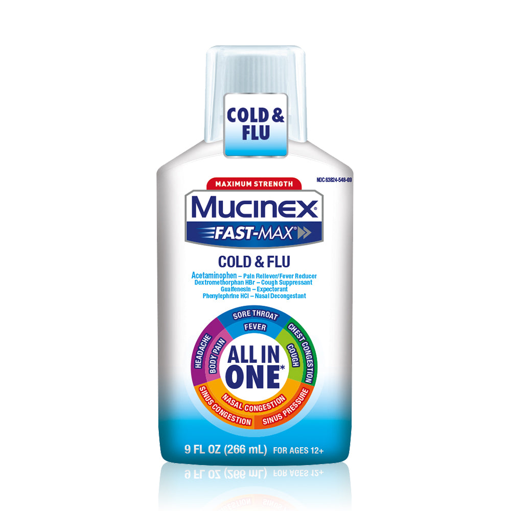 Mucinex Fast-Max Maximum Strength All-In-One Cold & Flu, 9 oz