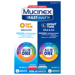 Maximum Strength Fast-Max® Day Time Cold & Flu and Night Time Cold & Flu