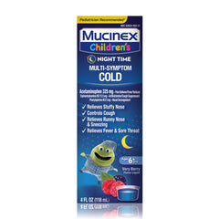 Children's Mucinex® Night Time Multi-Symptom Cold Liquid, Very Berry, 4oz.(Packaging/Flavor May Vary)