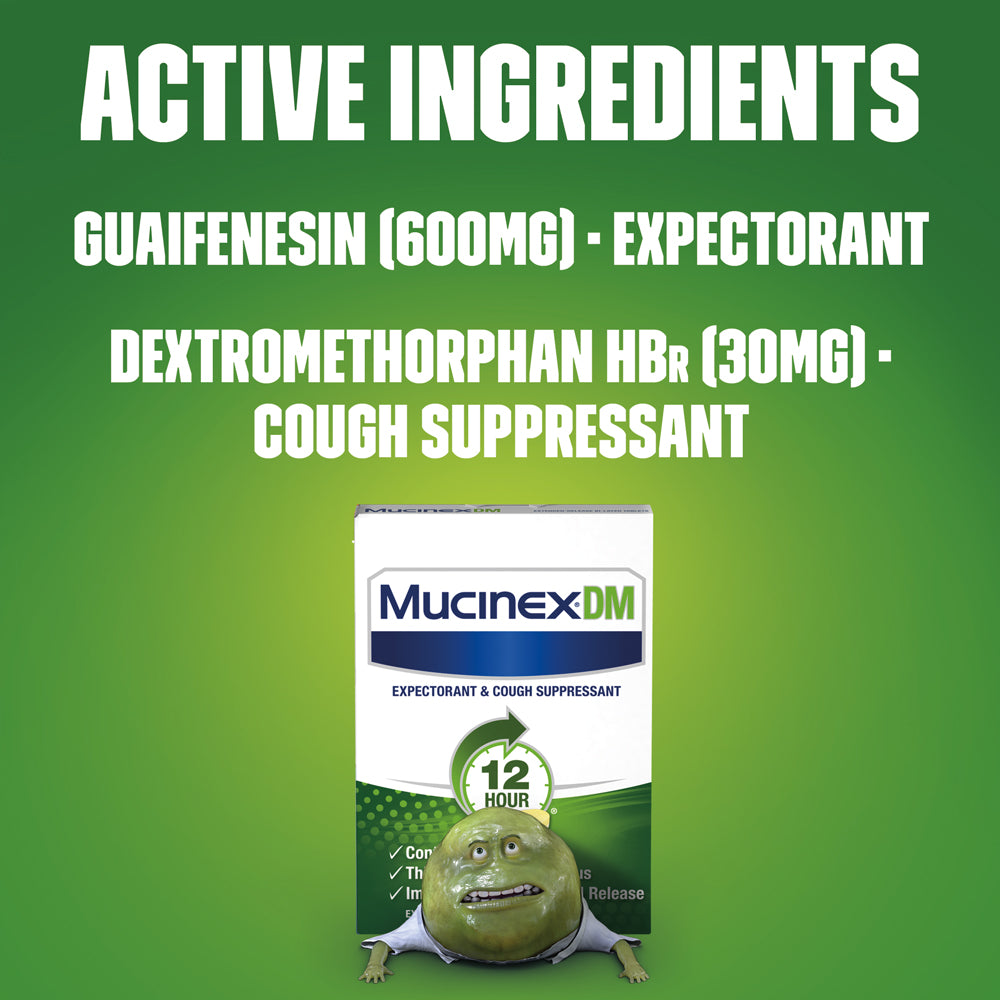 Maximum Strength Mucinex® DM 12 Hour Extended Release Bi-Layer Tablets, 7ct.