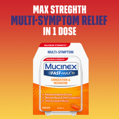 Mucinex® Fast-Max Adult Cold and Sinus Caplets, 20 ct.