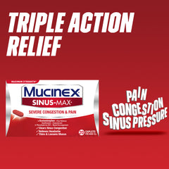 Maximum Strength Mucinex® Sinus-Max® Severe Congestion & Pain Caplets, 8ct.