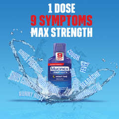 Maximum Strength Mucinex® Fast-Max® Night Time Cold & Flu Liquid, 6oz.
