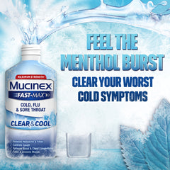 Maximum Strength Mucinex® Fast-Max® Clear & Cool Severe Congestion & Cough & Night Cold & Flu Liquid, 2x6oz.