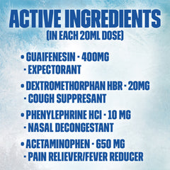 Maximum Strength Mucinex® Sinus-Max® Clear & Cool, Severe Congestion Relief Liquid, 6oz.
