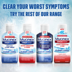 Maximum Strength Mucinex® Sinus-Max Clear and Cool