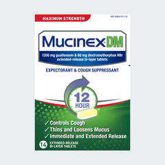Maximum Strength Mucinex® DM Extended-Release Bi-Layer Tablets