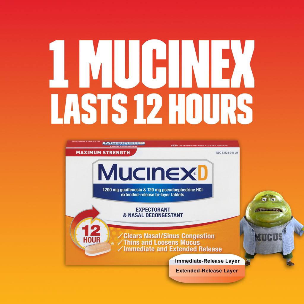 Mucinex® D Expectorant and Nasal Decongestant Tablets, 18 ct. - IN STORE ONLY