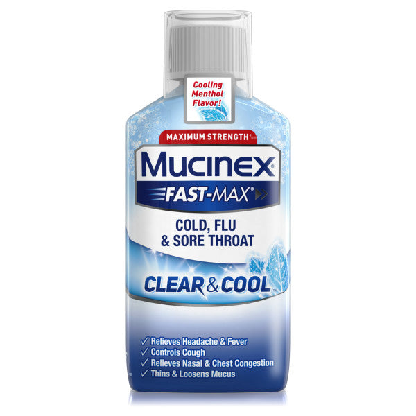 Fast-Max® Clear and Cool Sore Throat Liquid   Mucinex® USA