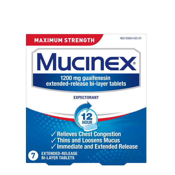 Maximum Strength Mucinex 12 Hour Extended Release Bi Layer Tablets