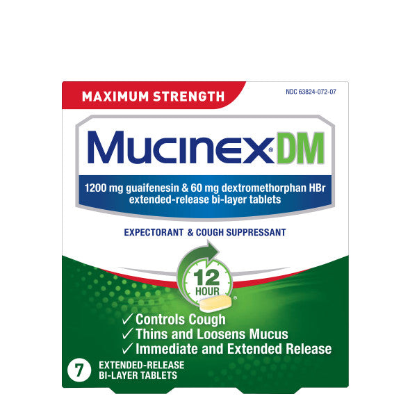 Maximum Strength Mucinex® DM 12 Hour Extended Release Bi-Layer Tablets, 7ct