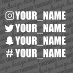 Custom Username Sticker - ThatDaily