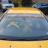 Ford Performance Sunstrip Lettering