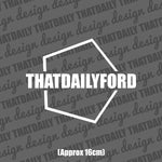 ThatDailyFord Hex Sticker