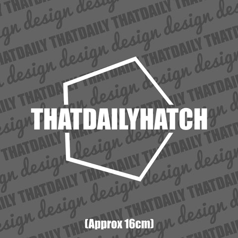 ThatDailyHatch Hex Sticker