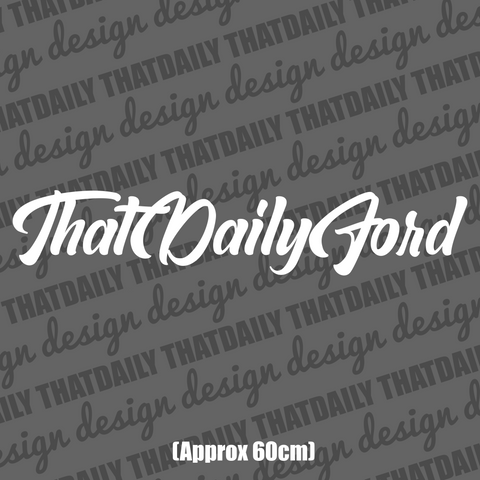ThatDailyFord Windshield Sticker - ThatDaily