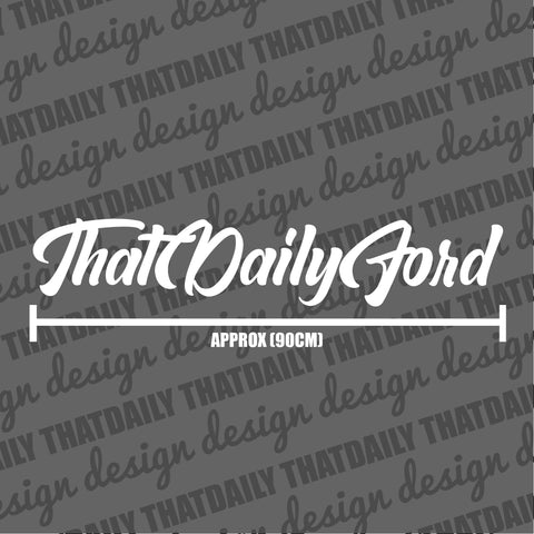 ThatDailyFord Styled Sunstrip Text