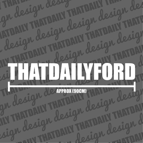ThatDailyFord Sunstrip Text