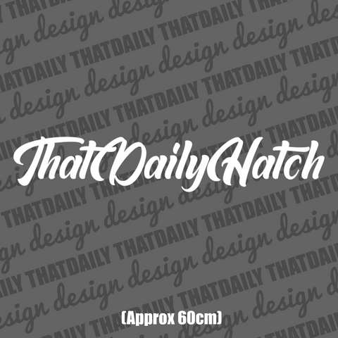 ThatDailyHatch Windshield Sticker - ThatDaily