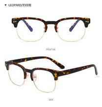 Load image into Gallery viewer, Blue Light Blocking Glasses - Clubmaster Inspired Design, Leopard
