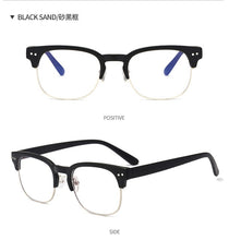 Load image into Gallery viewer, Blue Light Blocking Glasses - Clubmaster Inspired Design, Black Sand