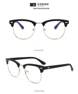 Men's Casual Blue Light Blocking Glasses - Clubmaster Style