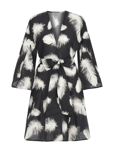 LILY KAFTAN FEATHER CARBON