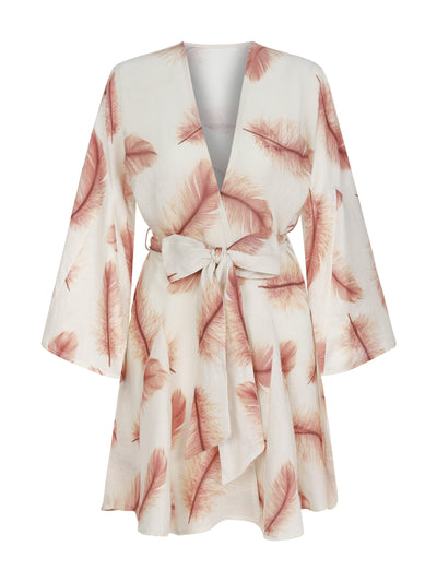 LILY KAFTAN FEATHER TAUPE