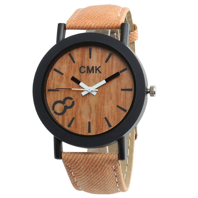 """Ercolono"" Wood Grain Watch"