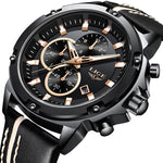 """Careggi"" Chronograph Leather Watch"